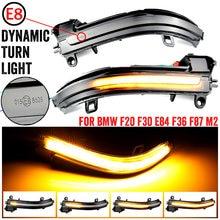 PEÇAS Para BMW F20 2 F21 F22 F33 F34 X1 E84 F36 F87 M2 1 2 3 4 Série Dinâmica Blinker Sinal da volta LEVOU Espelho de Luz