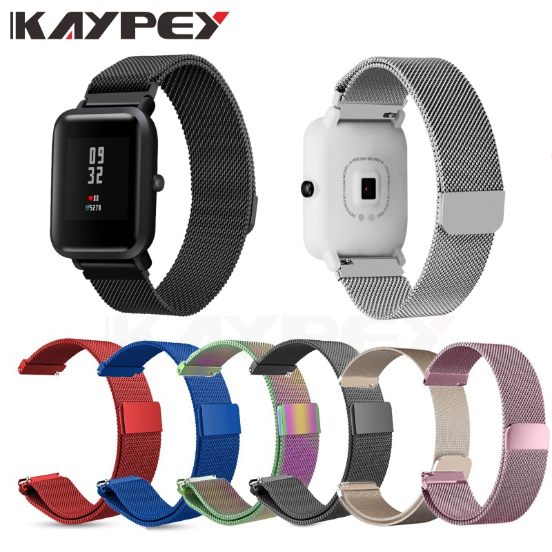 Milanese Stainless Steel Band Strap For Huami Amazfit Bip BIT PACE Lite Youth Smart Watch Quick Release Pins Metal Wrist Band