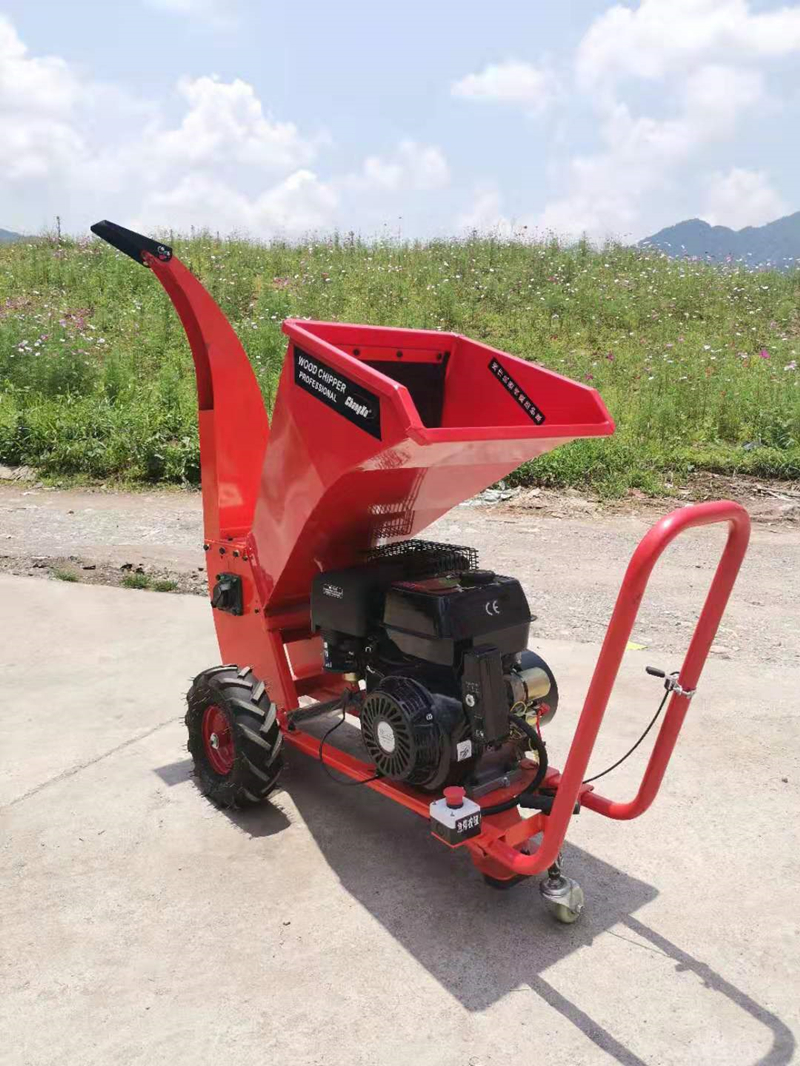 Electric Star Gasoline Engine Wood Chipper Shredder, CXC-701 Branch Shredder, Broken Branches