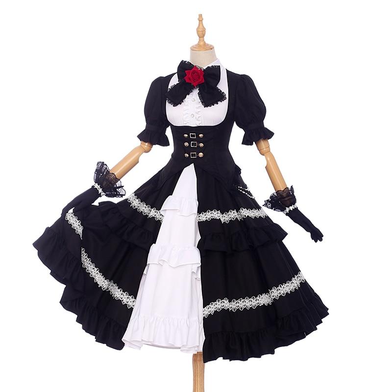 Date A Live Tokisaki Kurumi Cosplay Costume Five Years Ago Halloween Lolita Fancy Party Dress Uniform Cosplay Anime Costume