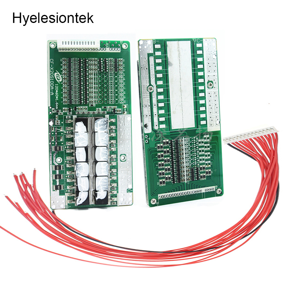 <font><b>BMS</b></font> <font><b>14S</b></font> 45A 52V 48V 8650 Lipo Li-ion Lithium Battery Protection Circuit Board PCB PCM <font><b>14S</b></font> <font><b>BMS</b></font> With Balancer Charger Balancing image