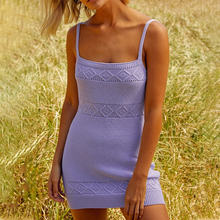 Women Suspenders Crochet Knitted Mini Dress Female High Waist A-line Sexy Short Dresses 2020 Summer Fashion Elegant Casual Dress(China)