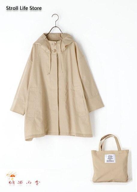 Japan Waterproof Rain Poncho Women Korean Raincoat Black Long Rain Coat Jacket Long Coat Women Windbreaker Gabardina Mujer Gift 2