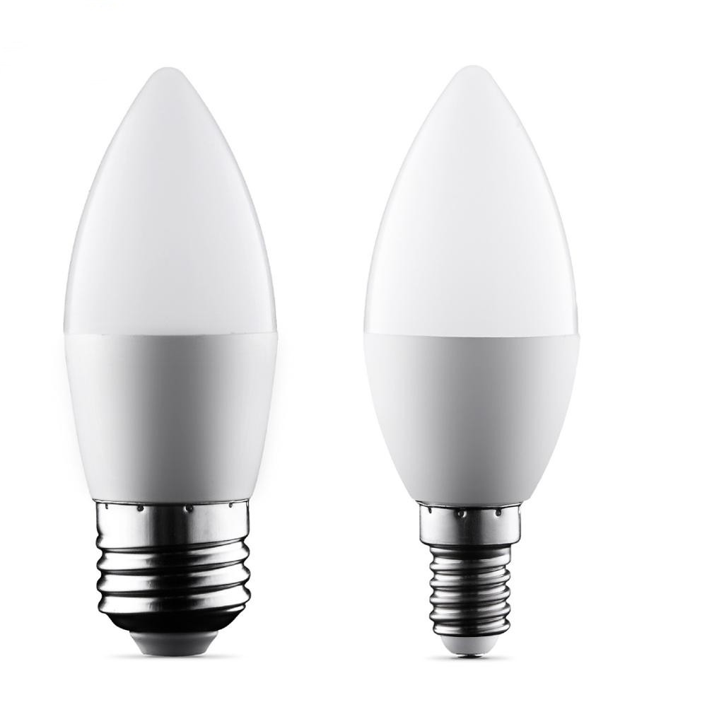 Candle E14 E27 LED Bulb 220V 6W 9W Flame Bombilla Led Candle Lamp Ampoule Chandelier Crystal Lamp Home Decoration Warm White