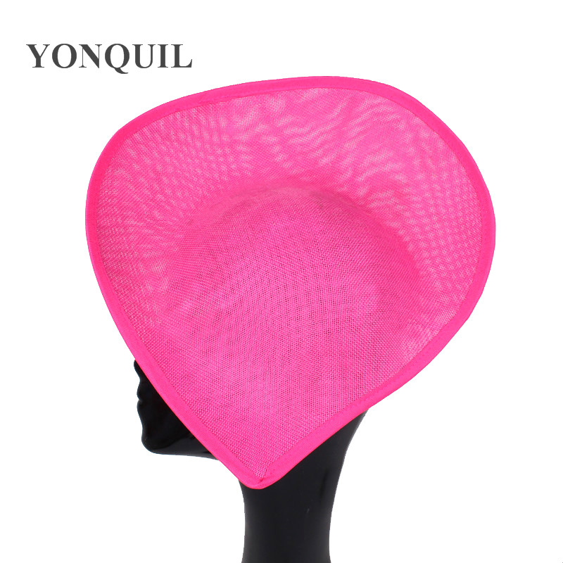 New Design Heat Shape 30 CM Big Fascinator Base Make For Women Party Wedding Hat DIY Hair Accessories Imitation Sinamay Chapeau