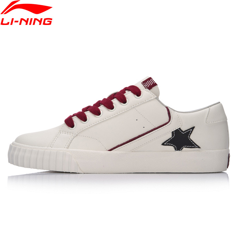 Li-Ning Sports Life Back Star Women Lifestyle Shoes LiNing Li Ning Leisure Sneaker Comfort Breathable Sport Shoes GLKM168 YXB086