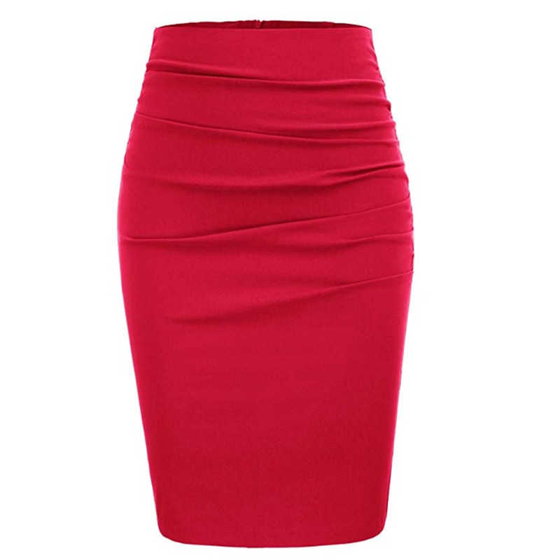 Summer simple style ladies sexy high waist slim pencil skirt multi-color charming bag hip skirt suitable for daily wear