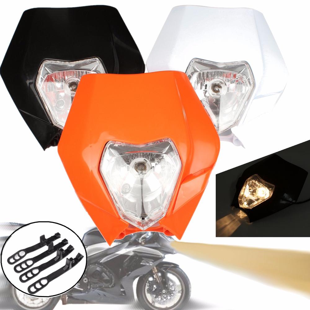 Motocross Dirt Bike Offroad Enduro Headlight Universal 12V 35W Motorcycle Headlamp MaskFor Enduro Motocross Dirt Bike EXC SX SXF