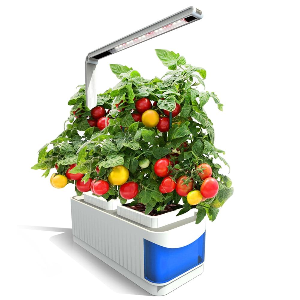 Многофункциональный Умный комнатный садовый набор для растений, система гидропонного выращивания со светодиодный Ной подсветкой для выра...
