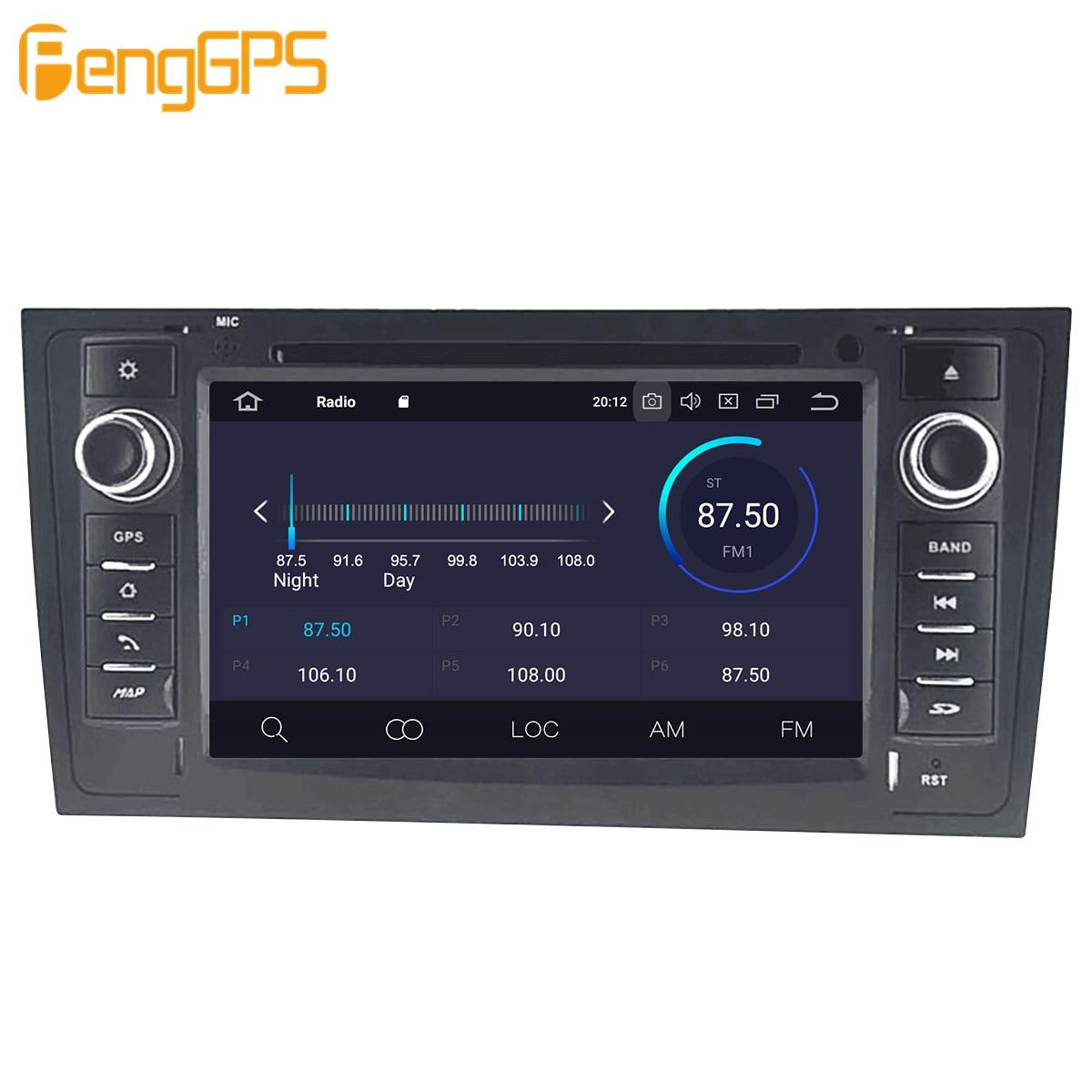 Автомобильный мультимедийный DVD-плеер на Android, GPS-радио для AUDI A6 4B C5 1997- 2004 2005, GPS-навигация, стерео видео головное устройство DSP, стерео-5