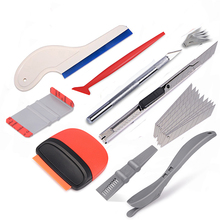 лучшая цена EHDIS Vinyl Wrap Car Squeegee Scraper Auto Sticker Cutter Knife Tool Kit Carbon Foil Film Car Wrapping Vehicle Accessories Set