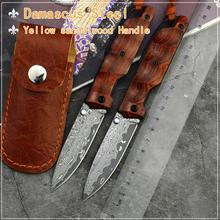 FORESAIL-VG10 Damascus Steel folding knife Pocket Knife  Outdoor High Hardness Sharp Tactical Knives wood Handle Knives EDC Tool
