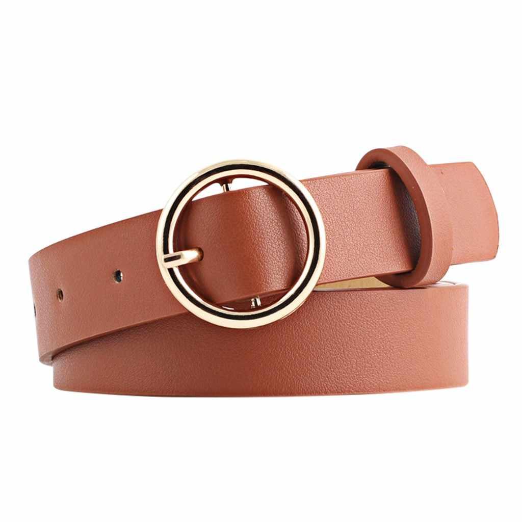 Novo designer de mulheres largas preto vermelho branco marrom falso couro cinto cintura mulher duplo o anel cintos para vestido cinturones para mujer