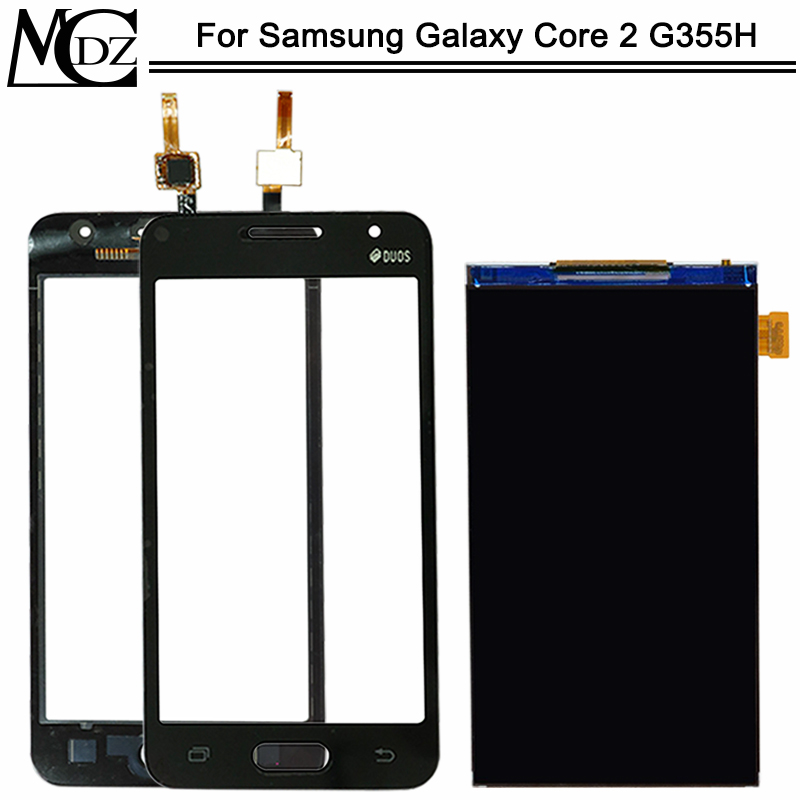 New G355 Touch Screen For Samsung Galaxy Core II 2 <font><b>G355H</b></font> G355HN LCD <font><b>Display</b></font> + Touch Sensor Glass Digitizer Panel Assembly image