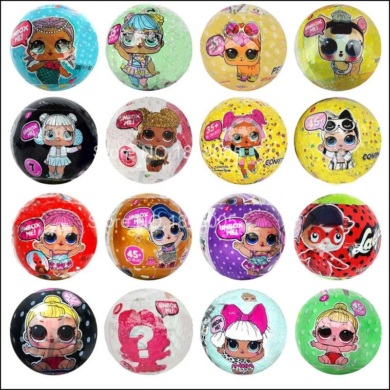 L.O.L. ¡Sorpresa! Glam-Muñeca All Star B.B.s de la serie Globe borroso Pets, brillante, discoteca, invierno, niños, deporte, equipo de animación, brillante