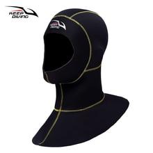 Keep Diving 3mm Neoprene Scuba Diving Hood With Shoulder Snorkeling Equipment Hat Cap Winter Swim Warm Wetsuit Spearfishing цена