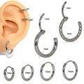 Серьга-гвоздик из нержавеющей стали, ювелирное украшение для пирсинга носа, губ, ушей, хрящ, завитка ушной раковины 16g, 1 шт.