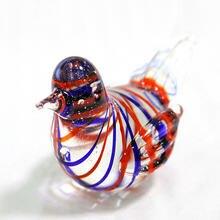 Новые мини стеклянные фигурки птиц ручное выдувное художественное