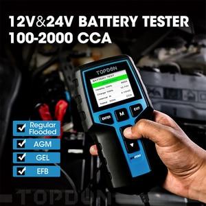 Image 3 - TOPDON BT200 12V Auto Batterie Tester Digitale Automotive Diagnostic Batterie Tester Analyzer Fahrzeug Ankurbeln Lade Scanner Tool