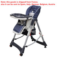 Infant Baby Highchair 15kg Loading Capacity Removable Tray Polyester Material 5 point Safety Harness Baby Eating Desk