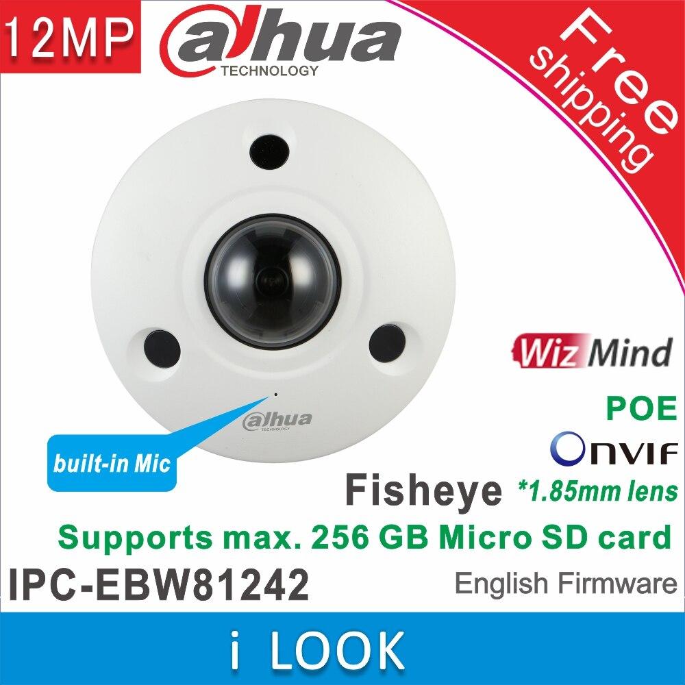"""Сетевой видеорегистратор Dahua IPC-EBW81242 12MP со сверхвысоким разрешением Ultra HD, антивандальный ИК сети """"рыбий глаз"""" с Камера IP67 AI """"рыбий глаз"""" с ..."""