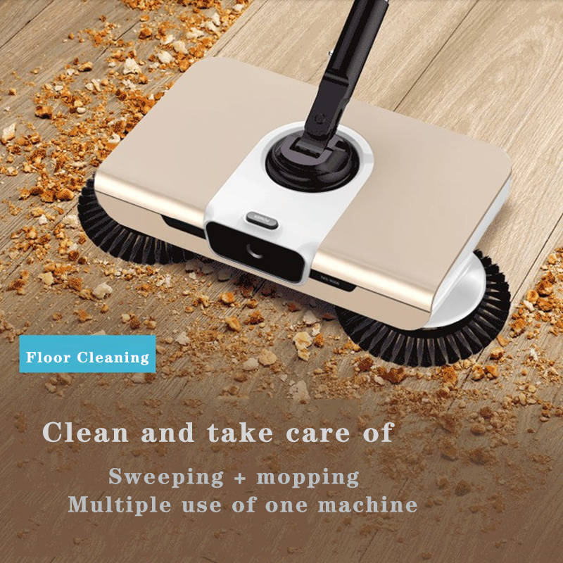 Wipe The Non Electric Hand-held Floor Of The Rental House Dry, Wet, Light And Thin Automatic Sweeper Comercial Cleaning Machine