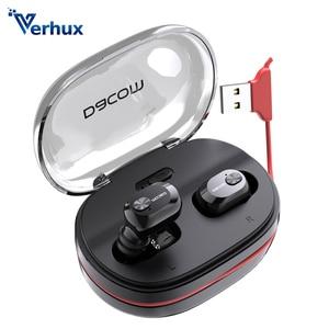 Verhux K6H Pro, беспроводные наушники-вкладыши, TWS, настоящие беспроводные наушники, наушники-вкладыши для телефона, Bluetooth, наушники 5,0, мини-гарнит...