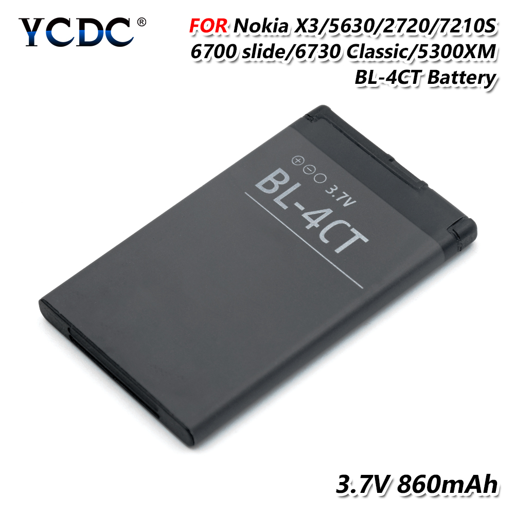 2019 New 100% bl-4ct Original battery for nokia 5310 2720a 3720 6600f 7310c 6700s 7230 x3 replacement Li-ion Battery(China)