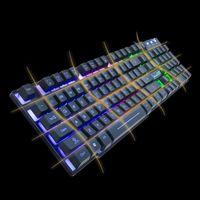 עם התאורה האחורית LED Wired זוהר עם התאורה האחורית Gaming Keyboard מחשב שולחני לוח המקשים המכאניים D08B (3)