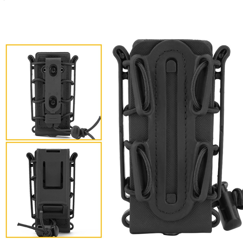 Tactical Molle Waist Belt Magazine Pouches 9mm Military Shooting Mag Pouch Outdoor Hunting CS Pistol Rifle Magazine Pouch in Pouches from Sports Entertainment