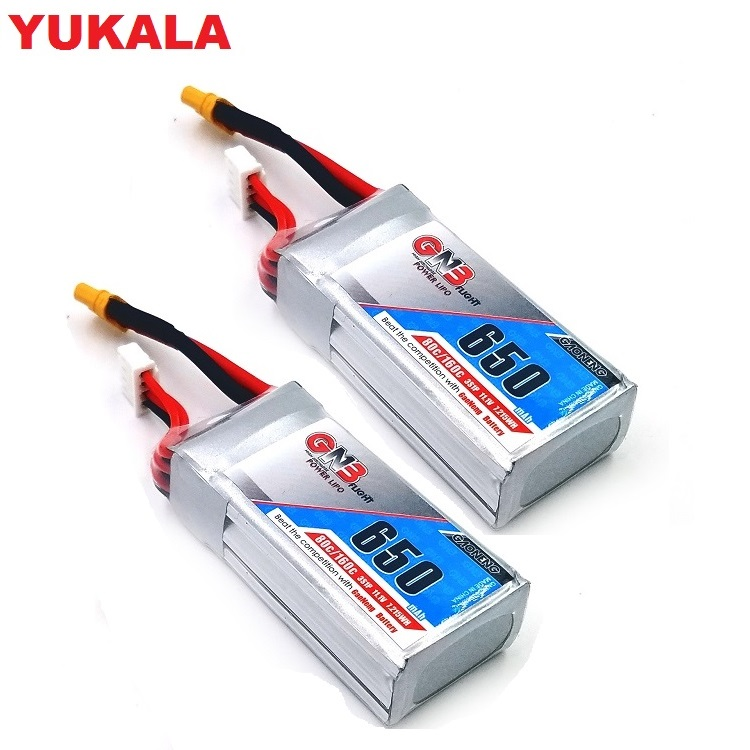 2PCS 11.1v <font><b>650mAh</b></font> 80C/160C <font><b>3S</b></font> <font><b>Lipo</b></font> battery with XT30 Plug for FPV Racing Drone 4 axis UAV RC Quadcopter RC Drone <font><b>650mah</b></font> 11.1v image