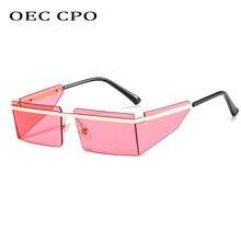 Солнцезащитные очки без оправы uv400 для мужчин и женщин маленькие