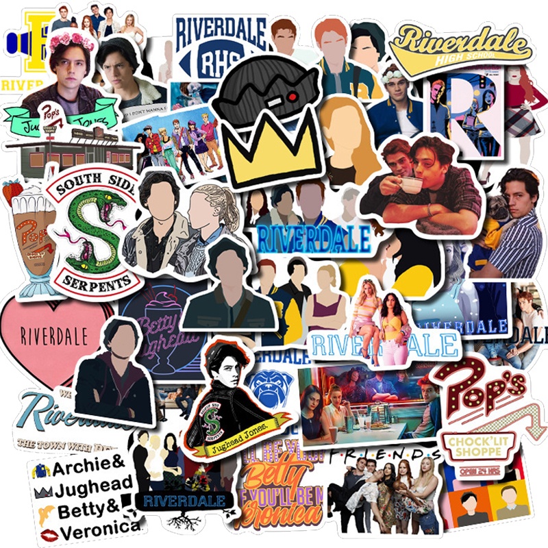 50PCS TV Serie Riverdale Wasserdichte Schreibwaren Pvc Aufkleber Skateboard Koffer Gitarre Gepäck Aufkleber Kind Spielzeug Geschenke Aufkleber