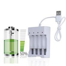 USB 4 Slots Schnelle Lade Batterie Ladegerät Kurzschluss Schutz AAA und AA Akku Station Hohe Qualität