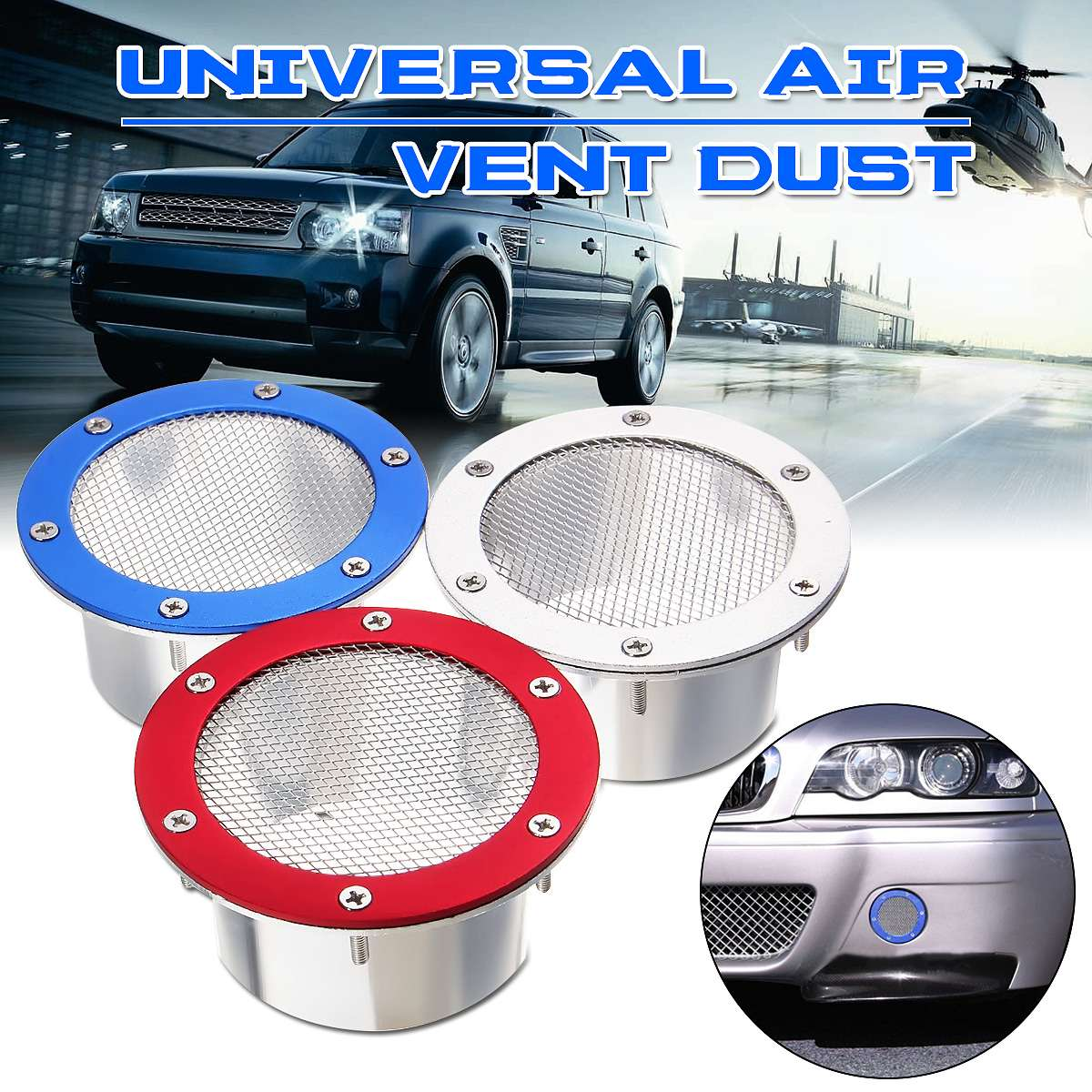 Universal Car Auto Air Vent Dust Air Duct Grille Air Intake Bumper Vent Inlet Air Duct Cold Air Filter For Benz For BMW For Audi
