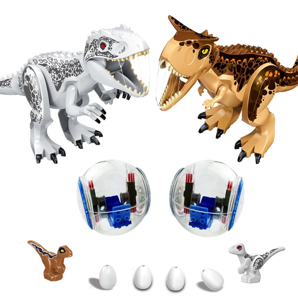 Строительные блоки Raptor, мир Юрского периода, динозавры, Детские кирпичи, игрушки для детей, рождественские подарки