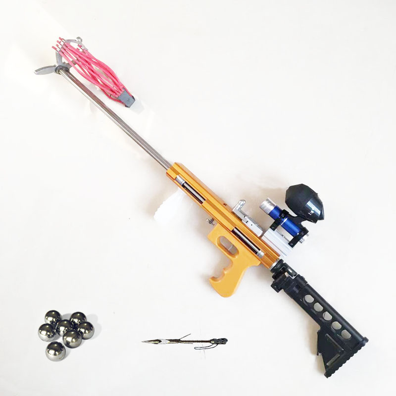 Thunder Slingshot Hunting Bow Powerful Catapult Fishing Reel Multifunction Steel Ball Ammo Arrow Shooting Sightscope Crossbow