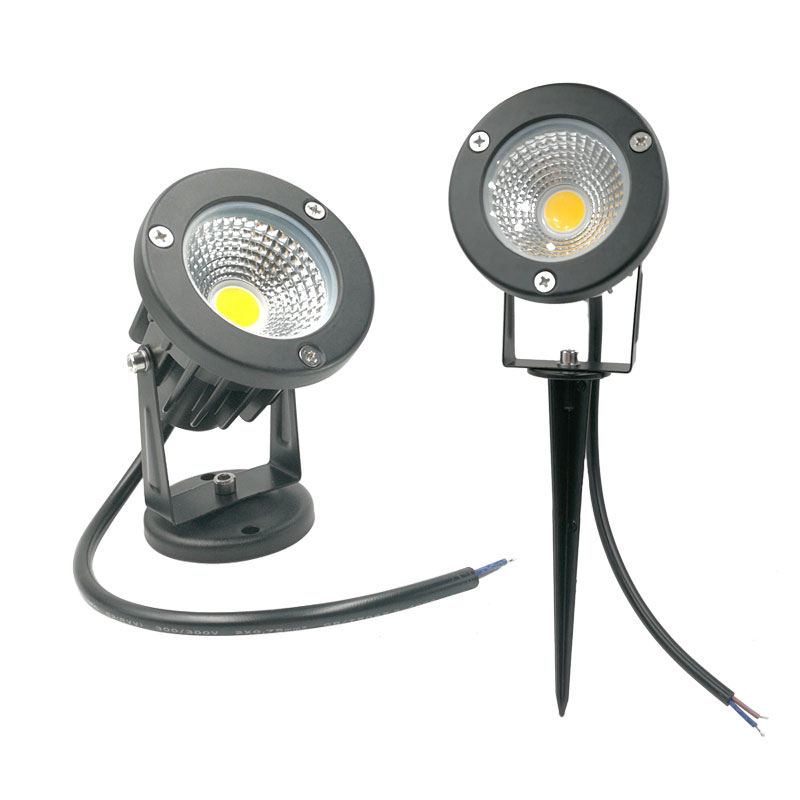 Image 5 - 9W 7W 5W 3W Led Garden LED Lamp 110 V 220V COB Outdoor Landscape spotlight with Spike Base IP65 Garden Yard Pathway Lawn Light-in LED Lawn Lamps from Lights & Lighting