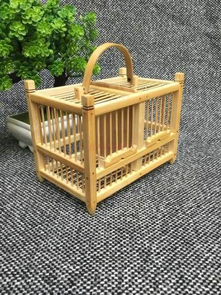 Two Grids Of Pure Handmade Bamboo Natural Cages Insects Old Children Refined 2020