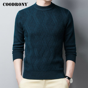 COODRONY Brand Winter Sweater Men Thick Warm Sweaters Soft Knitwear Pullover Men Clothing 2020 Casual O-Neck Men's Jumpers C1215