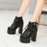 thick soled fashion boots new style Fashion show light and of sexy high heeled women's boots in the fall
