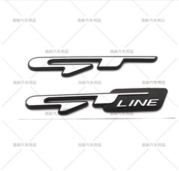 3D ABS GT GT Line Emblem Badge Sticker Rear Truck Decal car styling for KIA Sportage KX5 K3 K4 K5 Hyundai Elantra Ford Mustang image