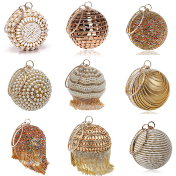 Женские свадебные сумки с кристаллами в форме шара