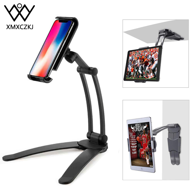 Kitchen Tablet Wall Mount Stand Fit For 5.1''-13'' Phone Holder For Tablet Desk Stand Aluminum Alloy Bracket Smartphones Holders