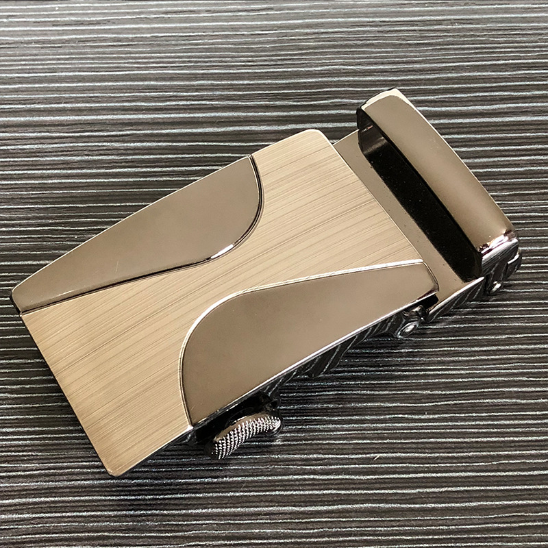 Zinc Alloy Men's Leather Lead Automatic Belt Buckle Head Metal High-end Belt Buckle Suitable For 3.5cm Wide Gear Belt Body