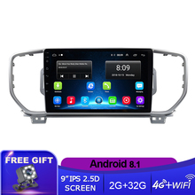 Car Radio For KIA Sportage 4 2016 2017 2018 KX5 Car Radio Multimedia Video Player GPS No 2din 2 Din Android 8.1 Car DVD Player недорого