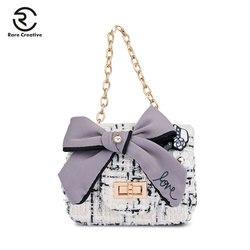Raro criativo 2019 designer de luxo das mulheres sacos de ombro moda panelled crossbody sacos feminino famosa marca sacos hs8002