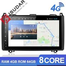Isudar H53 4G الروبوت 1 الدين راديو تلقائي ل مرسيدس/بنز/العداء/W169/B200/B  الدرجة GPS سيارة الوسائط المتعددة USB كاميرا DVR 8 النواة IPS