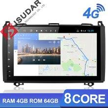 Isudar H53 4G Android 1 Din Auto Radio para Mercedes/Benz/Sprinter/W169/B200/ GPS de clase B para coche Multimedia USB DVR Cámara 8 núcleos IPS