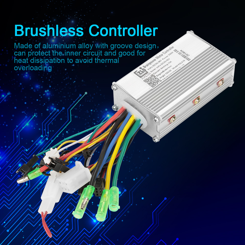 Electric Bicycle Accessories 36V/48V Electric Bike 250W/350W Brushless DC Motor Controller For Electric Bicycle E-bike Scooter